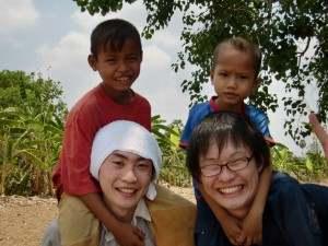 JICA訪問スタディツアー孤児院にて@カンボジア(海外ボランティア)