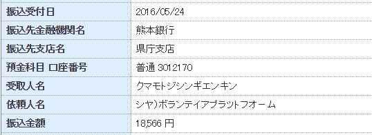 熊本義援金 ぼらぷら関西学院大学ボランティアサークル