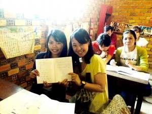 日本語学校の生徒さんとゆりさん@カンボジアスタディツアー(海外ボランティア)