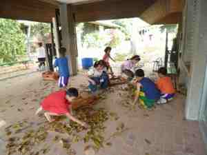 孤児院活動の様子